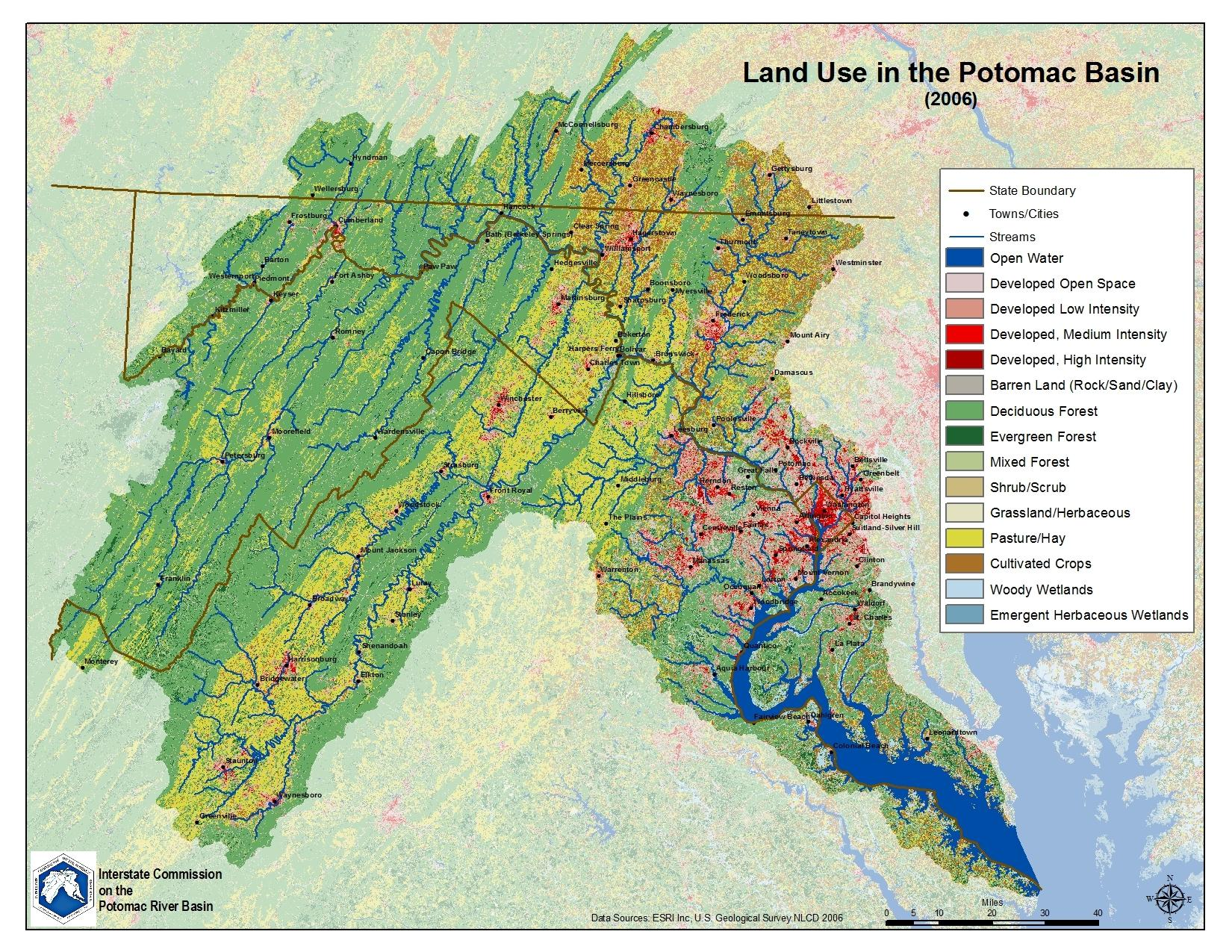 Maps Potomac River Basin Drinking Water Source Protection - Map of us river basins