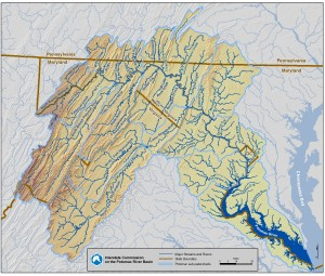 Potomac watershed and major streams