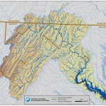 Potomac Watershed Map with Streams
