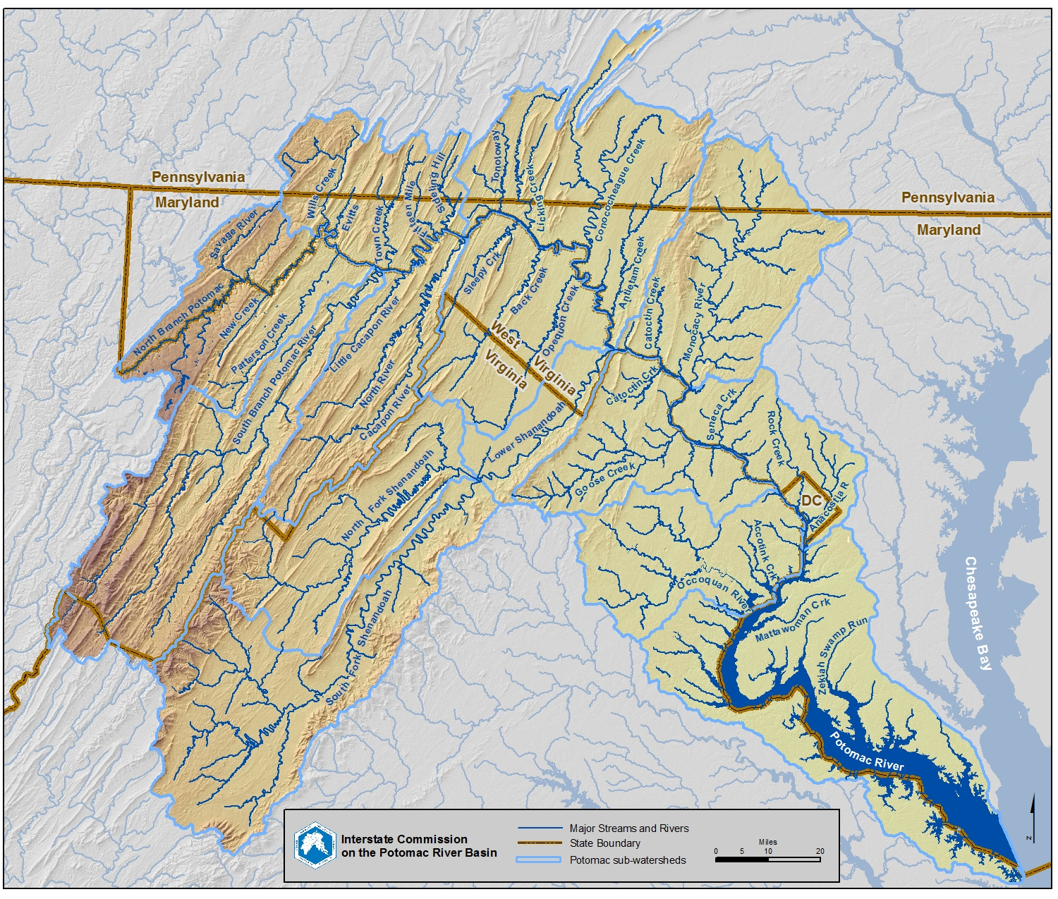 Maps Potomac River Basin Drinking Water Source Protection Partnership