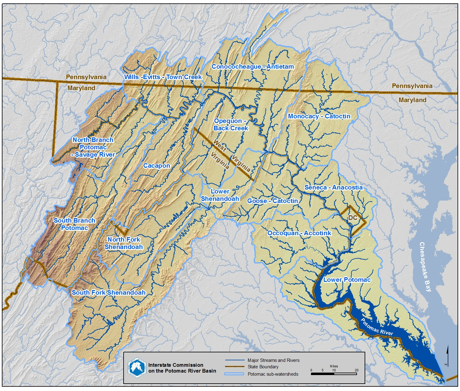 Maps · Potomac River Basin Drinking Water Source ...Potomac River Map With States